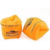 アームリング 浮き輪 アームヘルパー 腕輪 水泳用品 男女兼用 オレンジ (2個セット)