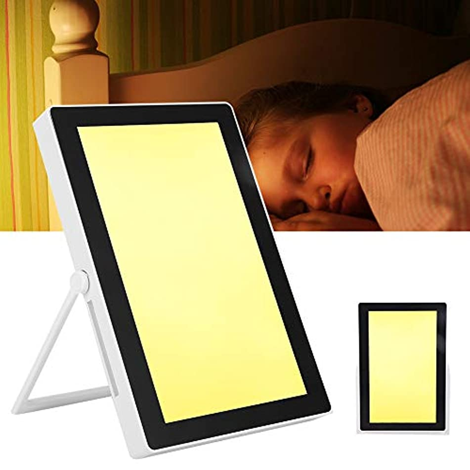 アジア人ドックそれ光療法ランプ-悲しい療法ランプ-白色および温光調節可能な情動障害治療ライト(リモコン付き)