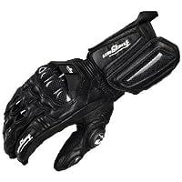 TTC バイクグローブ メンズレディースグローブ 2カラー 革 手袋 防寒 防風 バイク用品 防水 レーシンググローブ (M, ブラック)