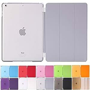 MS factory iPad Air スマート カバー バック ケース グレー IPDA-SSET-GY