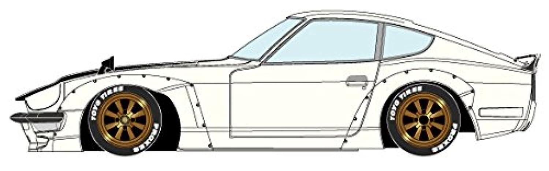 メイクアップ IDEA 1/18 パンデム 240Z ホワイト (カーボンボンネット、ブラックダックテール) / RS ワタナベ Rタイプ ホイール (ブロンズ) 完成品