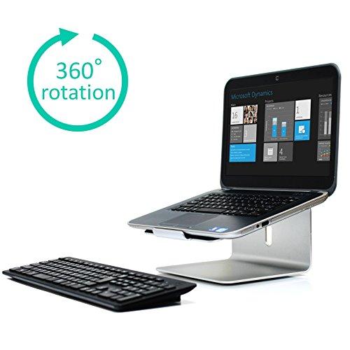 LOE ノートパソコン スタンド 360度 回転台 (11-...