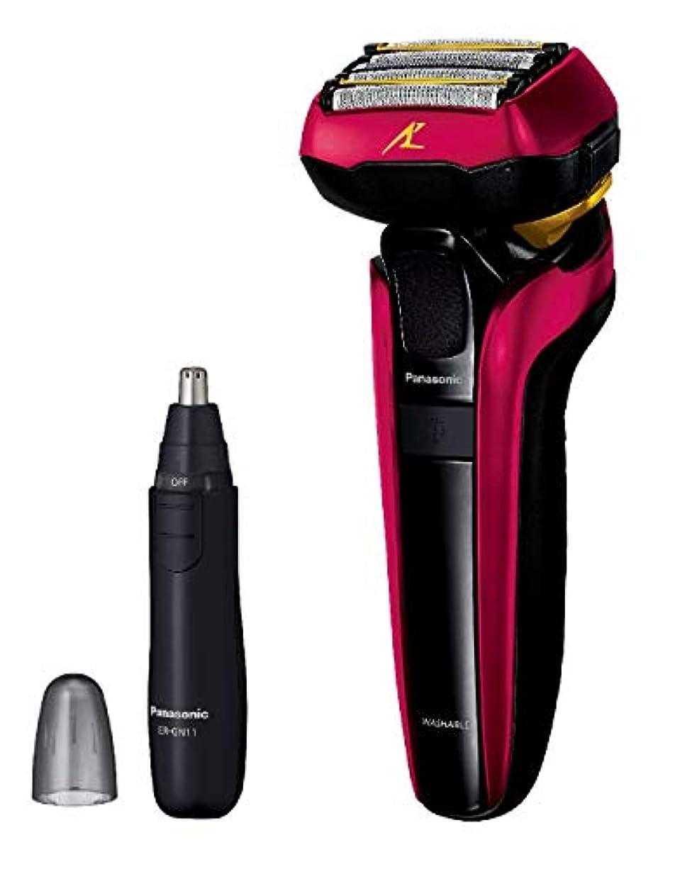 火赤リーダーシップパナソニック ラムダッシュ メンズシェーバー 5枚刃 赤 ES-LV5D-R + エチケットカッターER-GN11-K セット