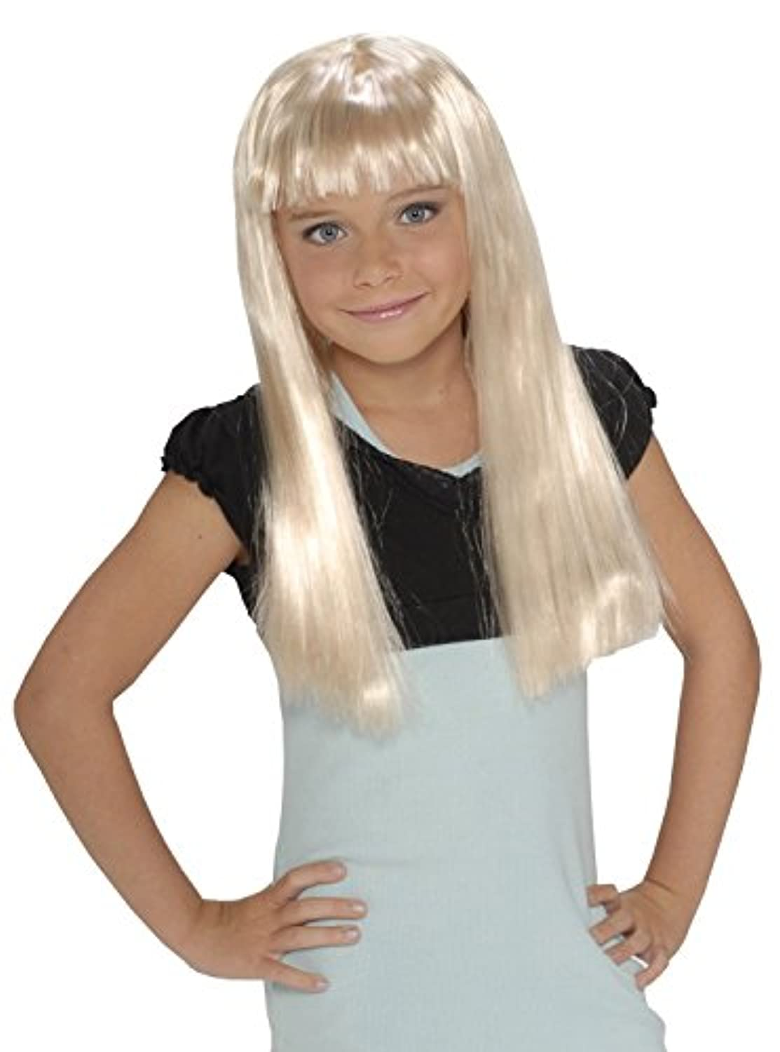 Child'S Rock Star Long Blonde Wig [並行輸入品]