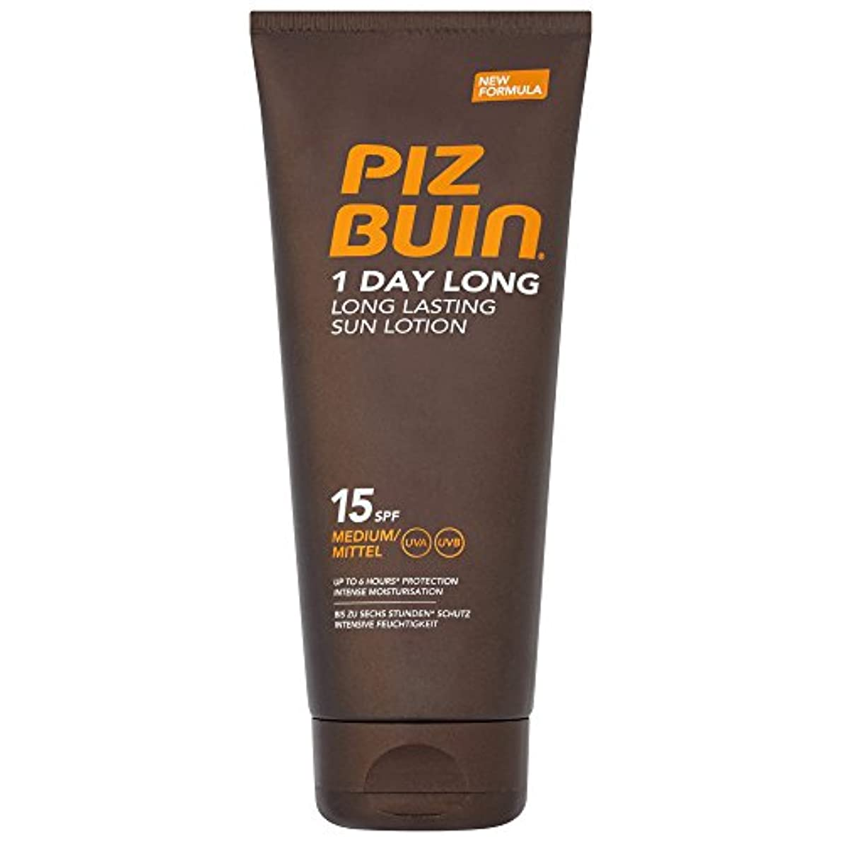 受け入れた税金レンダーピッツブーインの1日長い15の日焼けローション200 x4 - Piz Buin 1 Day Long SPF15 Sun Lotion 200ml (Pack of 4) [並行輸入品]