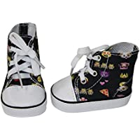 Ari and Friends Fitsアメリカンガール18インチ人形 – 絵文字楽しいHi Top sneakers- 18インチ人形靴 – Designed in USA toフィット18インチ人形 – A Modern Twistの従来の18
