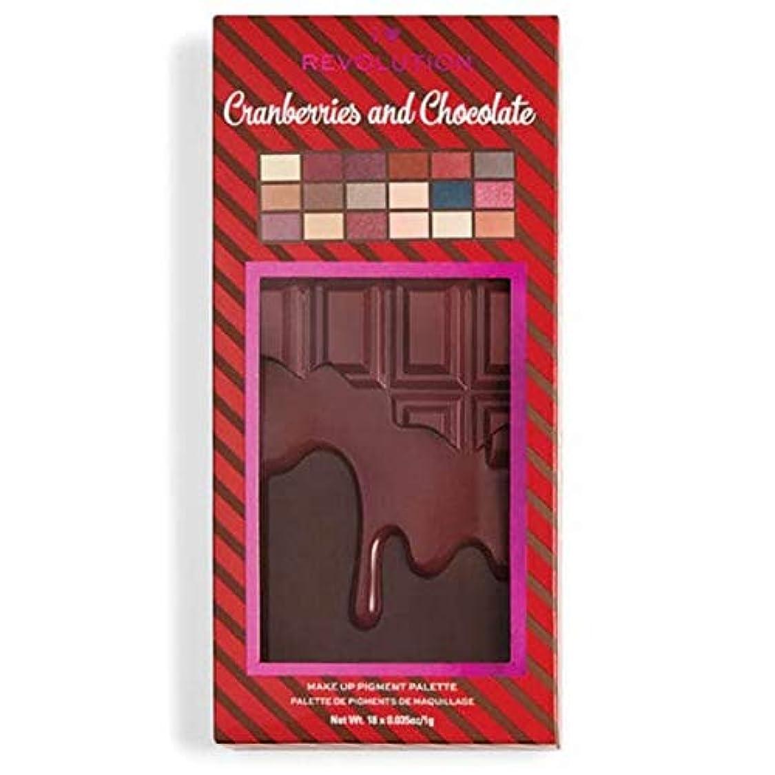 体操バーターヘクタール[I Heart Revolution ] 私の心の革命クランベリー&チョコレートパレット - I Heart Revolution Cranberries & Chocolate Palette [並行輸入品]