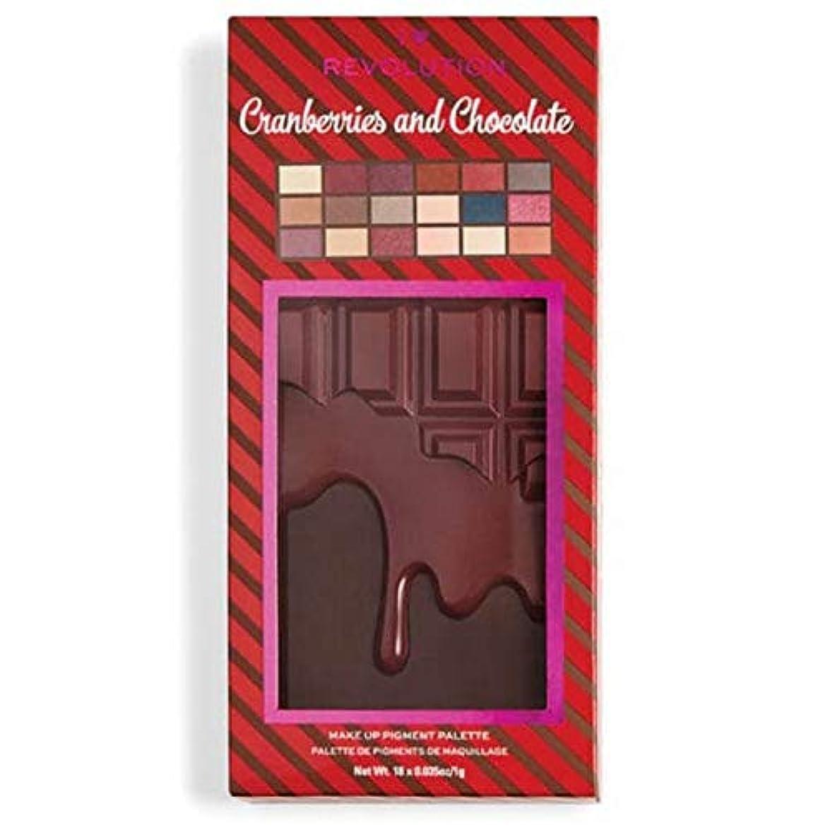 正確章キッチン[I Heart Revolution ] 私の心の革命クランベリー&チョコレートパレット - I Heart Revolution Cranberries & Chocolate Palette [並行輸入品]