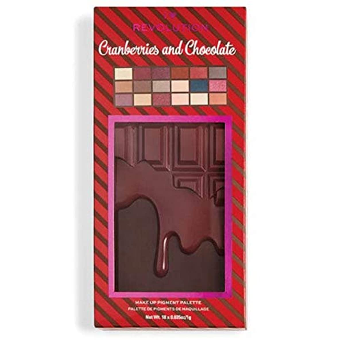 真向こう記念日相続人[I Heart Revolution ] 私の心の革命クランベリー&チョコレートパレット - I Heart Revolution Cranberries & Chocolate Palette [並行輸入品]