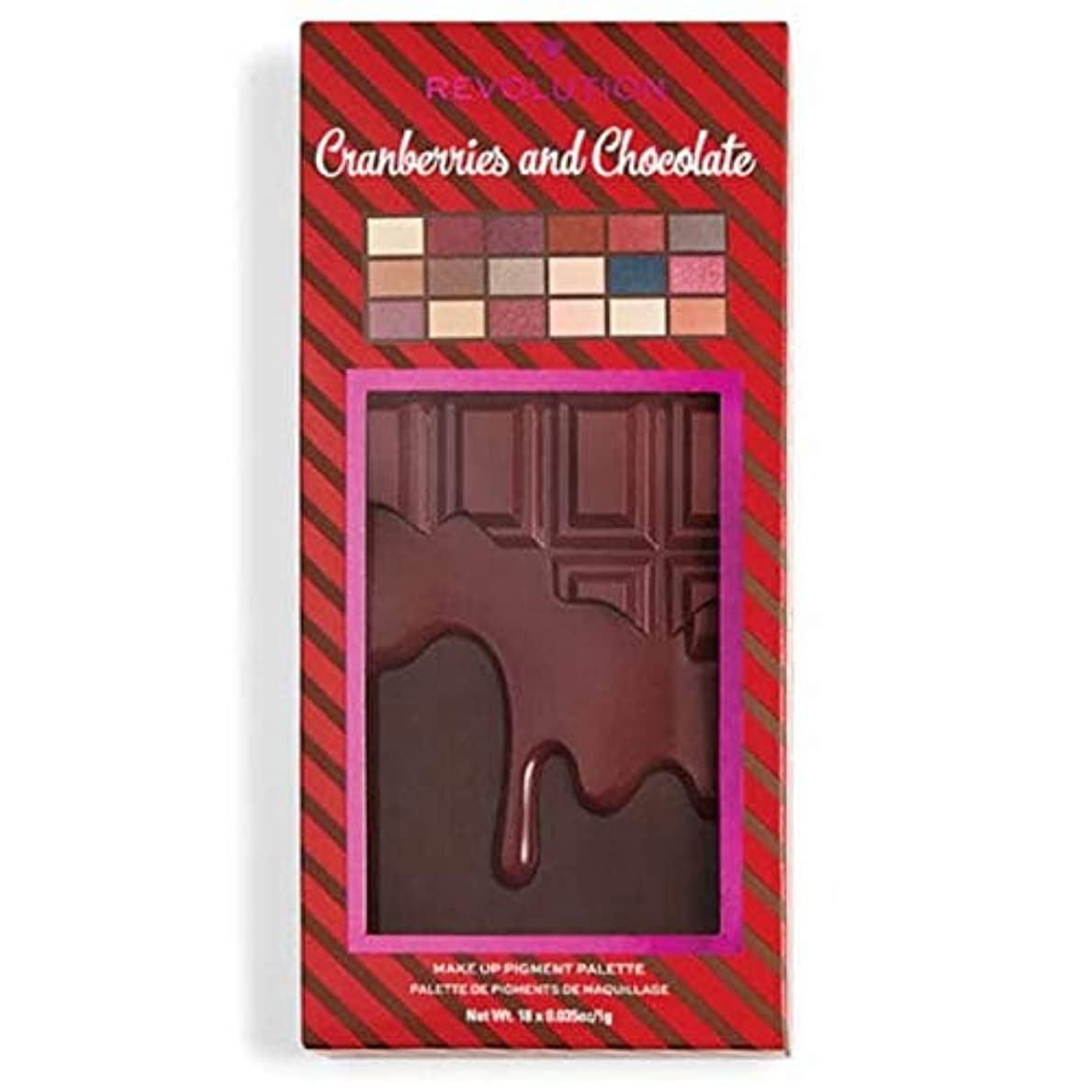 韓国びっくりするネックレット[I Heart Revolution ] 私の心の革命クランベリー&チョコレートパレット - I Heart Revolution Cranberries & Chocolate Palette [並行輸入品]
