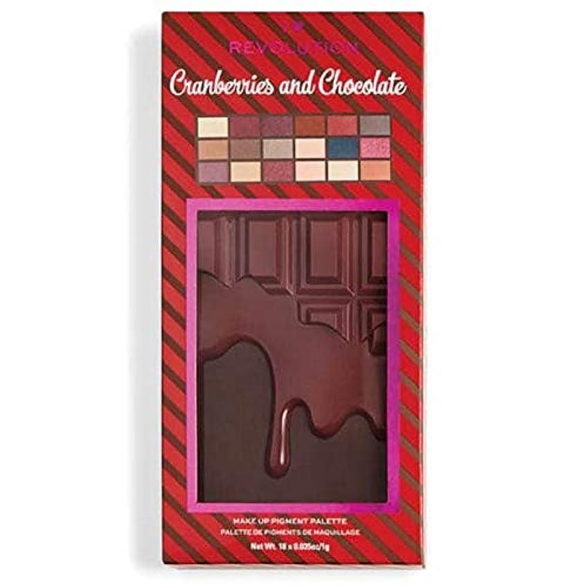 によると貫入存在[I Heart Revolution ] 私の心の革命クランベリー&チョコレートパレット - I Heart Revolution Cranberries & Chocolate Palette [並行輸入品]