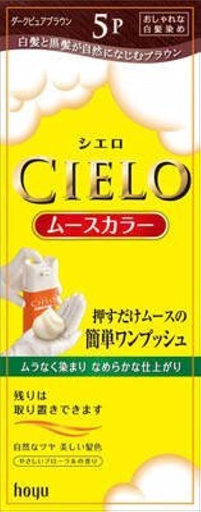 帳面適度なアレルギー性シエロ ムースカラー 5P ダークピュアブラウン × 10個セット