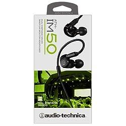 audio-technica IM Seriesカナル型モニターイヤホン デュアル・シンフォニックドライバー ブラック ATH-IM50 BK