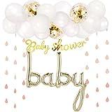 Hanamei ベビーシャワーデコレーション セット no.2 baby バルーン ガーランド 飾り 装飾 pa039 (ピンク)