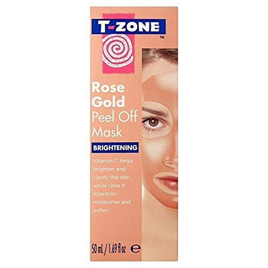 風邪をひくファウル高速道路[T-Zone] Tゾーンは、金マスク50ミリリットルを明るくはがしバラ - T-Zone Rose Gold Peel Off Brightening Mask 50ml [並行輸入品]