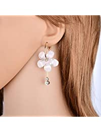 Demana Super Fairy Flower Earrings Temperament Long Tassel Earrings Female Exaggerated Personality Tide Earrings