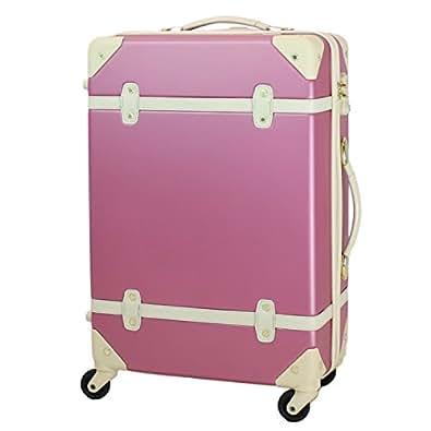 MOIERG(モアエルグ) キャリーバッグ 機内持ち込み YKK使用 軽量 かわいい スーツケース (S, ピンク)【81-80001-31】