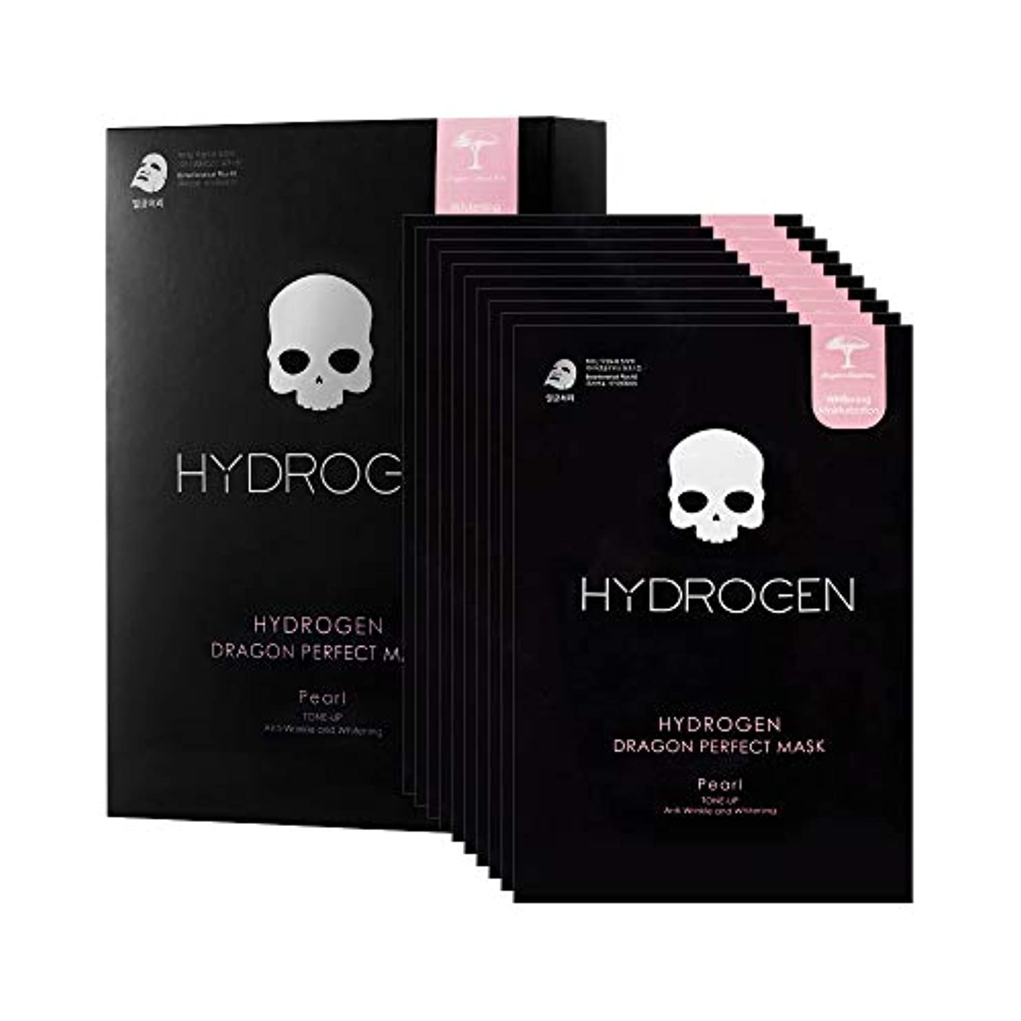 鉄道成果死ぬ【HYDROGEN】ハイドロゲンドラゴンパーフェクトマスク HYDROGEN DRAGON PERFECT MASK [10枚入り]