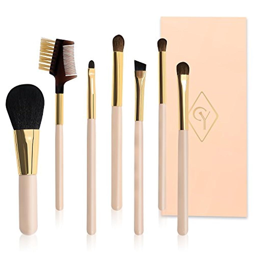 ラボ笑指標CHUYIN メイクブラシセット 化粧ブラシ旅行用 携帯便利 ピンク 7本セット アイスメイク 化粧筆