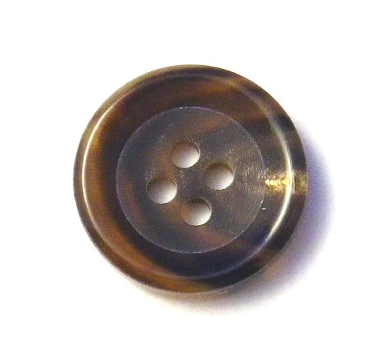 本水牛ボタン №540 貴重な茶色 20mm