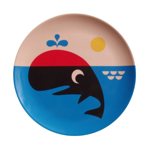 OMM-design Ingela P Arrhenius (インゲラ・アリアニウス) メラミンプレート (whale/ホエール)