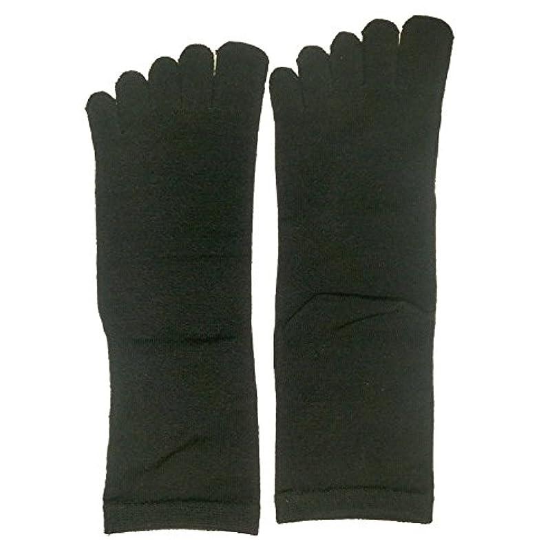 同じ化学薬品インデックス【3足セット】シルク 五本指 ソックス レギュラー丈 25-27cm 日本製 (ブラック)絹 靴下