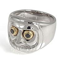 アルマ 達磨 だるま 指輪 リング ブラックダイヤモンド 18金 シルバー925 コンビ 縁起物 リング お守り 指輪 レディース メンズ ユニセックス 14号 【190629os41】