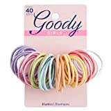 Goody Ouchless Medium Hair Elastics (2mm), 40ct (Assorted colors)