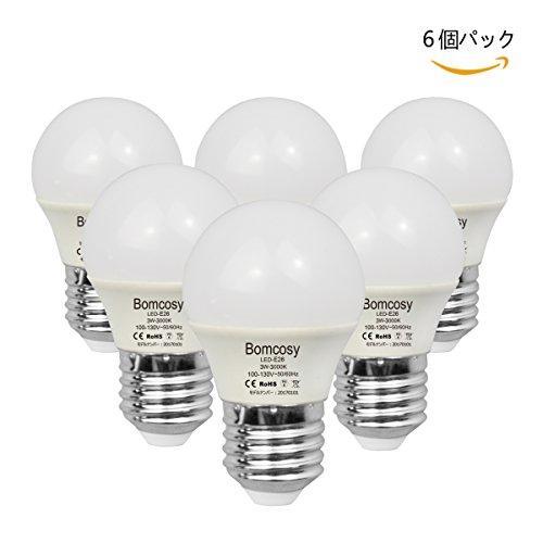 ボンコシ LED電球 E26口金 25W形相当 240lm 省エネ90% 電球色相当(3W)3000K 広配光タイプ 6個パック