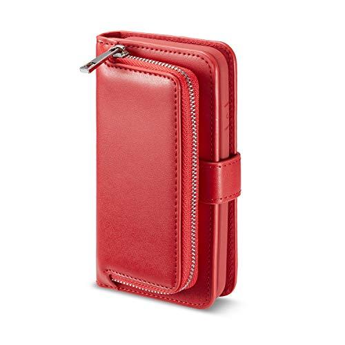iphone8 ケース iphone7ケース 手帳型 レザーケース スマホケース ファスナー設計 鍵...