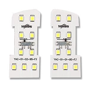 YOURS(ユアーズ) ハイエース 200系 専用 フロントルームランプ 2個1セット 単品販売 (減光調整付き) 専用設計 LED ルームランプセット (専用工具付) (1年保証)