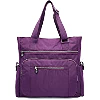 Mfeo Womens Multi Pocket Large Nylon Handbag Shoulder Bag Big Shopping Bag Tote Work Bag