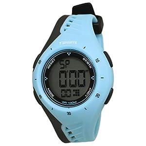 [クレファー]CREPHA 腕時計 T-SPORTS デジタル表示 10気圧防水 ブルー AZ-TS-D040-BL ボーイズ