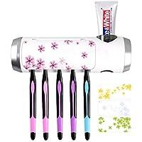 歯ブラシ除菌器 歯ブラシホルダー UBS充電式 壁掛け式 歯磨き粉ホルダー UV 殺菌消毒 歯ブラシ収納 静音 家族用5本