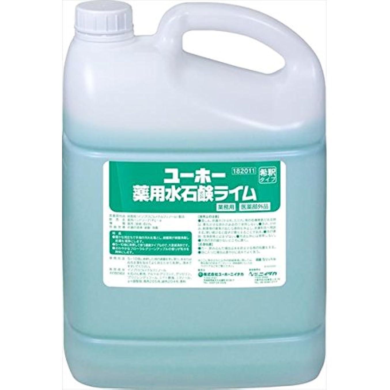 配送理解するトロリーバスユーホーニイタカ:薬用水石鹸ライム 5L×2 182011
