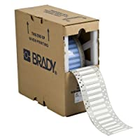 Brady 3PS-375-2-WT-S 2 Width x 0.645 Height B-342 Heat-Shrink Polyolefin Matte Finish White PermaSleeve Wire Marking Sleeve Two-Sided Printable (Pack of 250) [並行輸入品]