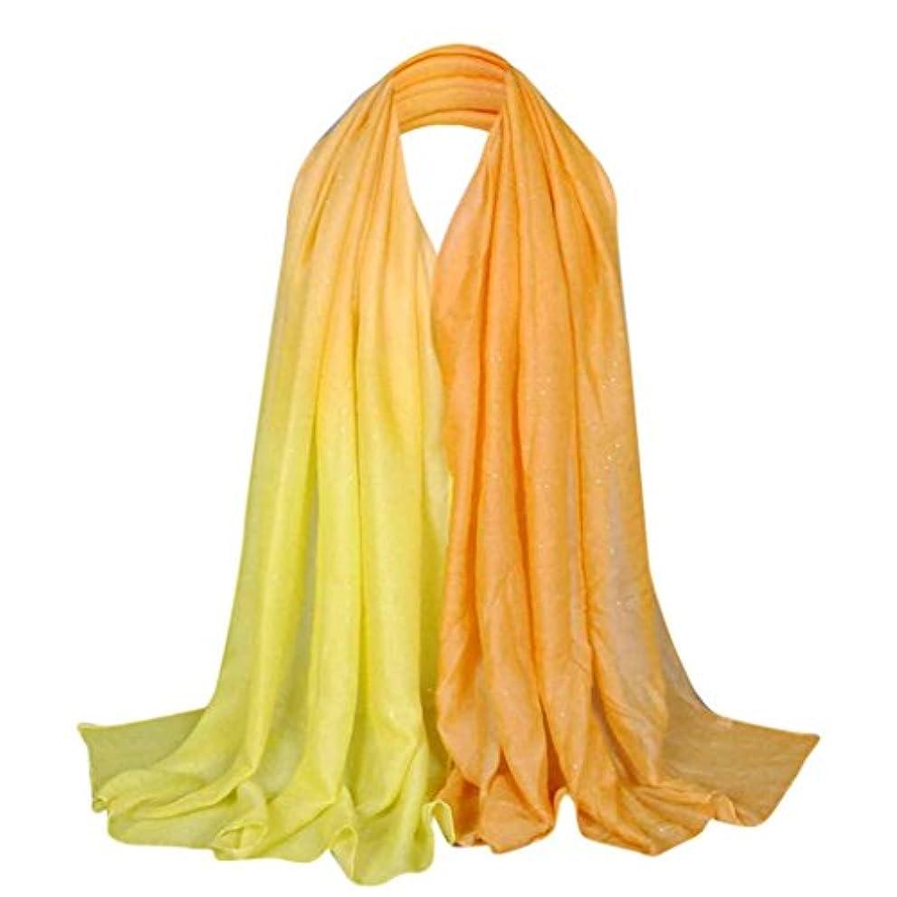 船乗り信頼できる原理Feiscat 女性 キラキラ グラデーションスタイル アクセサリー お洒落 ふんわり ファッションスカーフ