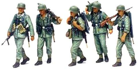 1/35 ミリタリーミニチュアシリーズ ドイツ機関銃チーム「行軍」セット