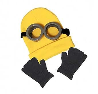 (pkpohs) コスプレ 小物 (ゴーグル、ニット帽、手袋 3点セット)仮装 小道具 映画 キャラクター (セットA)