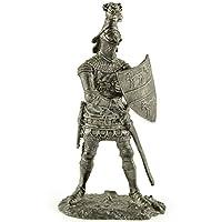 サー·ヒューKalvli。イングランド、14世紀。金属アートの彫刻。Sir Hugh Kalvli. England, 14th century. Tin toy soldiers. コレクション54ミリメートル (スケール1/32)ミニチュア置物。錫のおもちゃの兵士