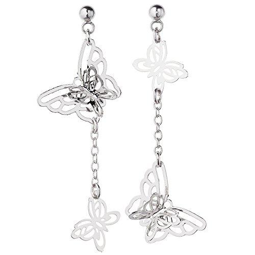 [해외]액세서리 숍 피 에나 나비 2 연속 나비 귀걸이 수지 포스트 비 알레르기 수지 귀걸이/Accessory shop Pienna butterfly 2 butterfly butterfly earrings resin post non non allergic resin earrings