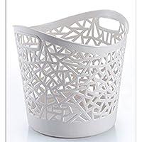 DCAH ストレージバスケットクリエイティブ家庭用ハンパー折りたたみおもちゃの服汚い服ストレージバスケットストレージバケツランドリーバスケット3色オプション Laundry basket (色 : 白)