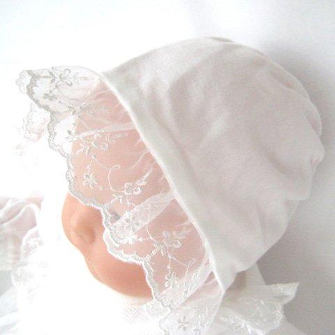 夏物 日本製 お宮参り退院時 クマさん柄 ベビードレス お帽子付き2点セット