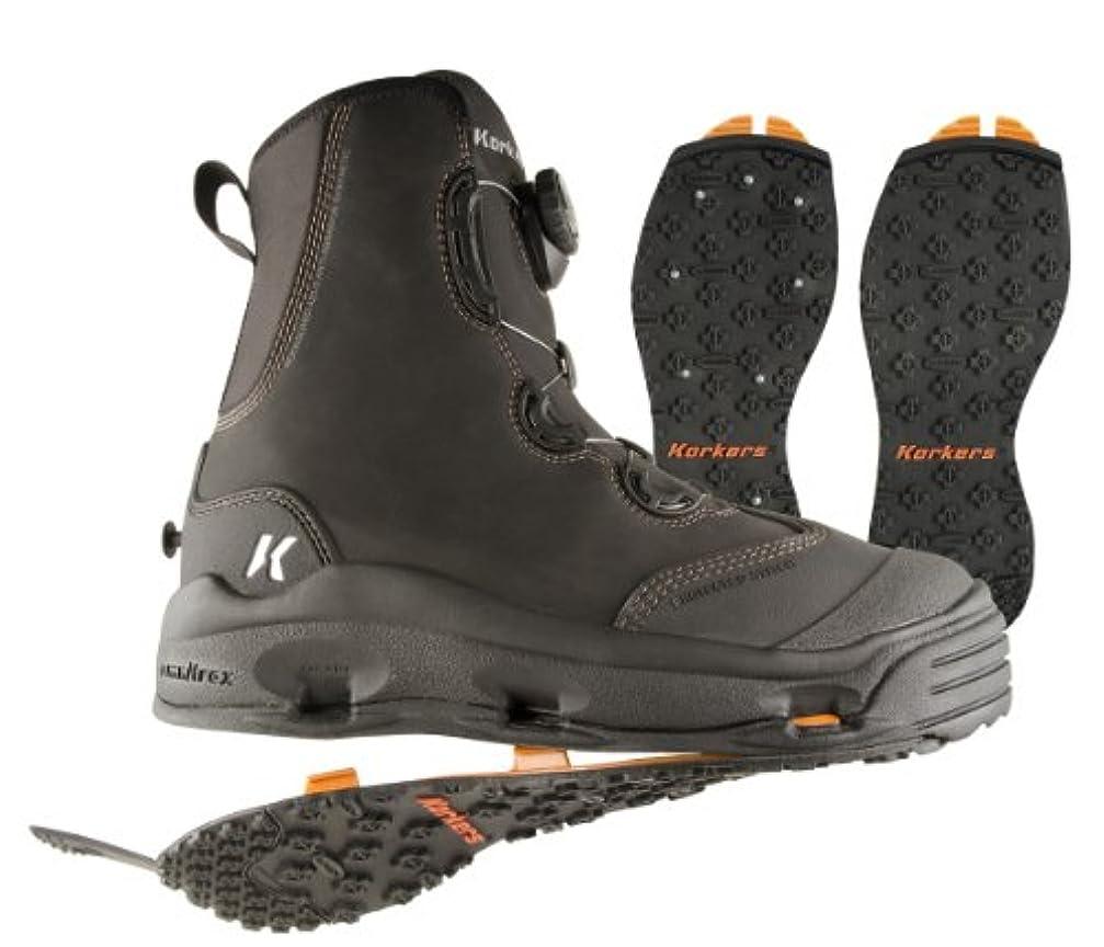 スキム性格データムKorkers Devil 's Canyon Wading Boot with kling-on and Studded kling-on Outsoles