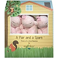 Angel Dear a Pair and a Spare 3 Pcs Blankets Gift Box, Pink Whale. by Angel Dear