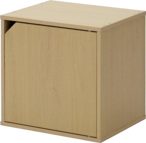 不二貿易 キューブボックス 扉付き 幅34.5cm...
