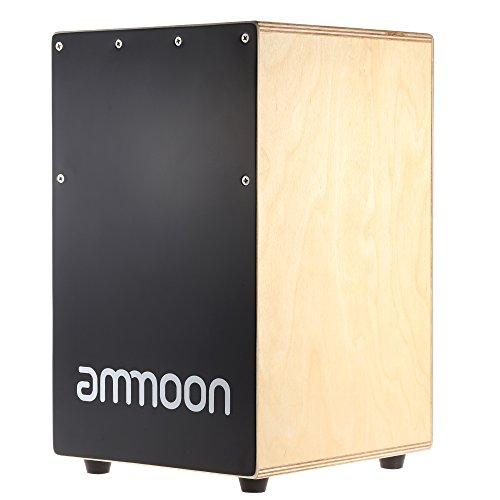 ammoon カホン ボックスカホン 23 * 24 * 37cm ドラム ゴム足付き 打楽器