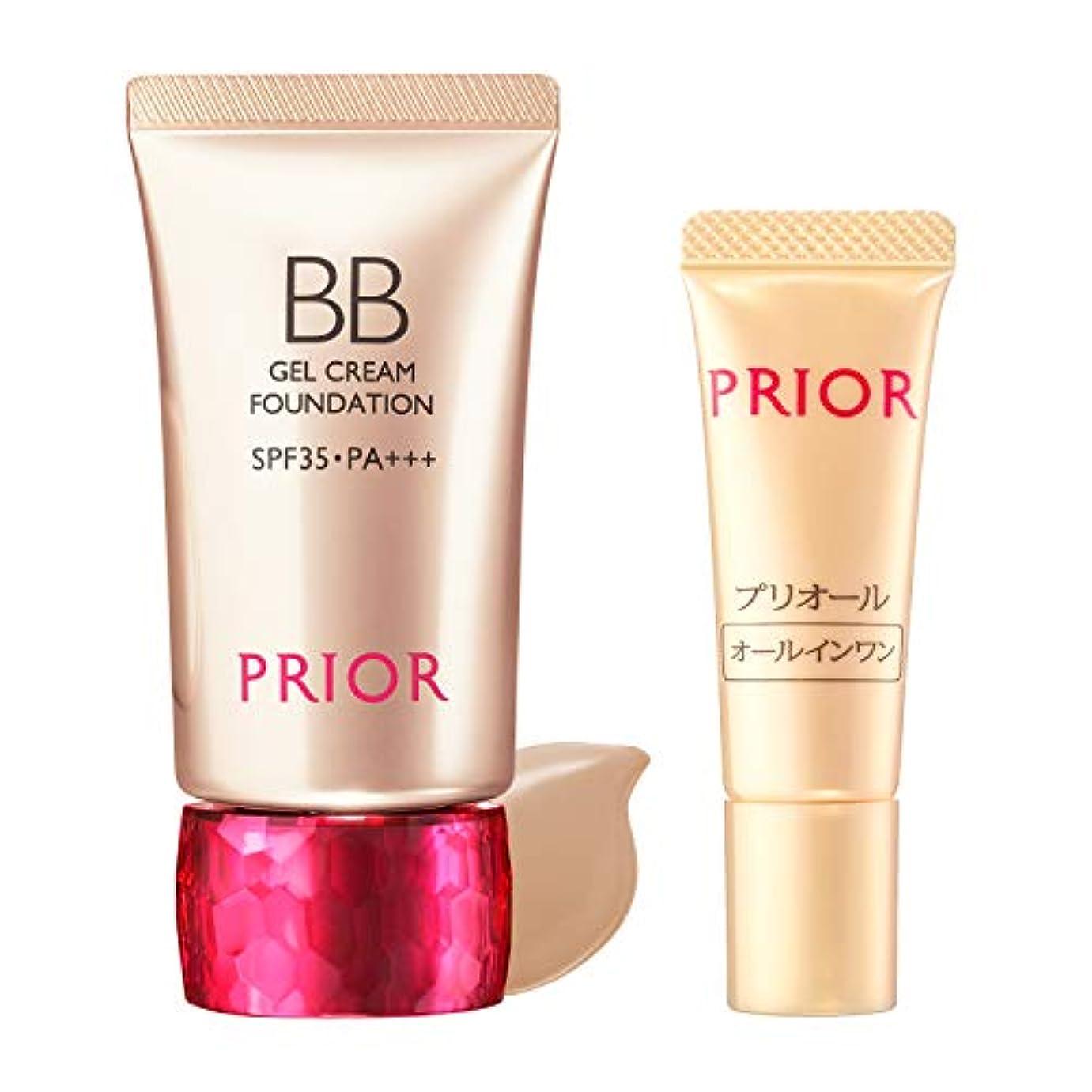 叫び声測定可能妊娠したPRIOR(プリオール) 美つやBBジェルクリーム 限定セット g BBクリーム オークル3(セット品) 30g+1g