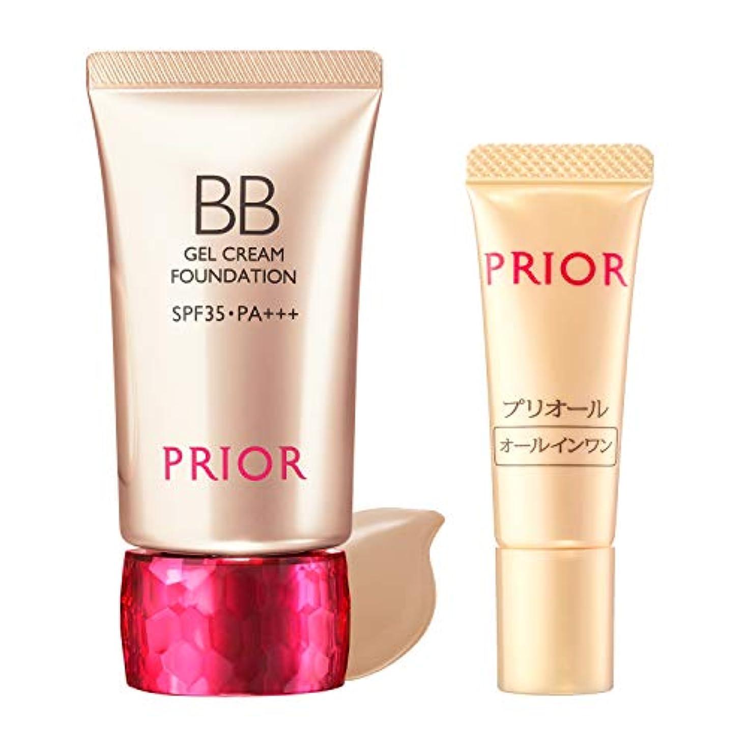 浸食ボリューム解任PRIOR(プリオール) 美つやBBジェルクリーム 限定セット g BBクリーム オークル3(セット品) 30g+1g