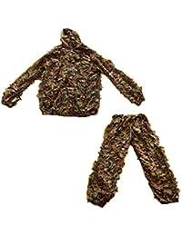 アウトドア3Dジャングルバイオニックリーフカモフラージュハンティングスーツ - ワンサイズ